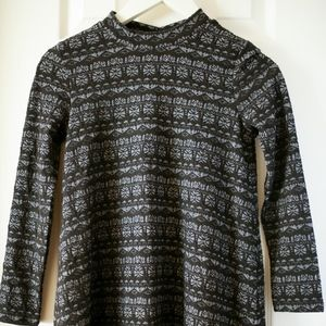 American Eagle Black Gray Long Sleeve Dress XS